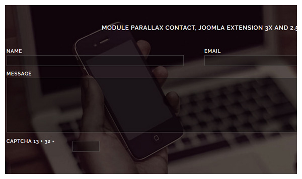 parallax contact joomla extensions